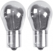 Blister 2 lamparas cromadas intermitente AMBAR