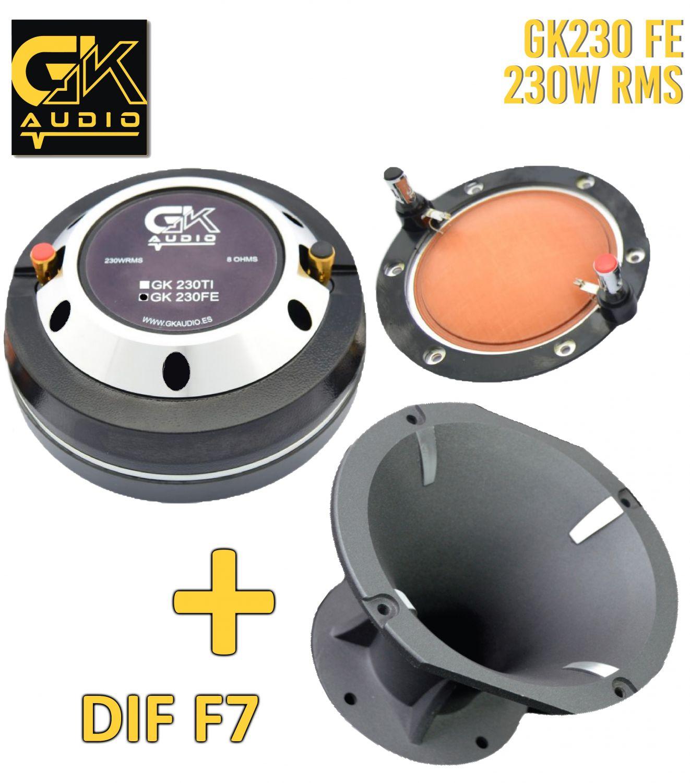 GK Audio 230FE + DIFUSOR F7